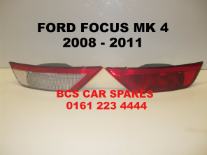 FORD FOCUS MK 4   REAR LIGHT + REVERSE LIGHT  DRIVER + PASSENGER SIDE  PAIR  2008  2009  2010  2011  NEW